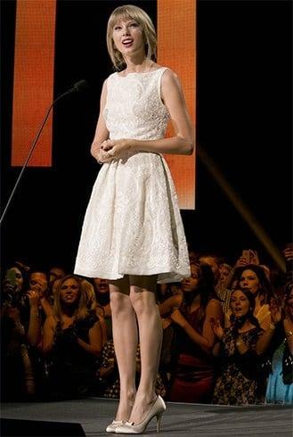 Taylor Swift In White Dress