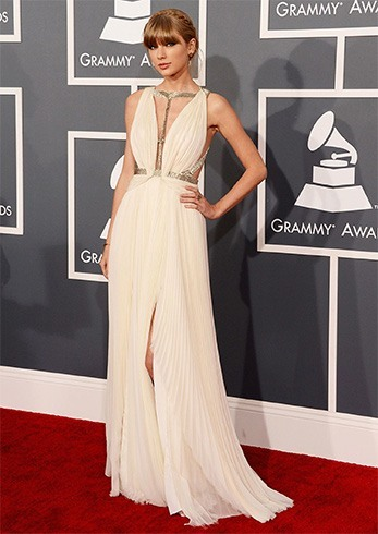 Taylor Swift White Gown