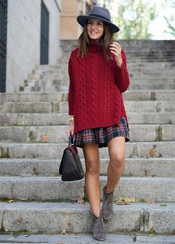 What To Wear With A Plaid Skirt 64