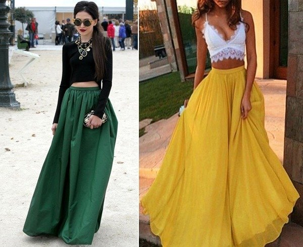 ways to style long skirts