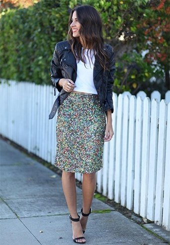 15 Ways To Style Your Sequin Skirt Outfit This Season