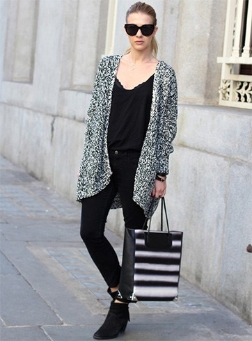 Wear a Long Cardigan With Black Dress