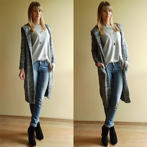 Wear a Long Cardigan With Jeans