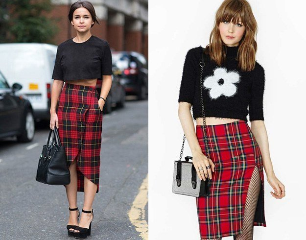 What To Wear With A Plaid Skirt 90