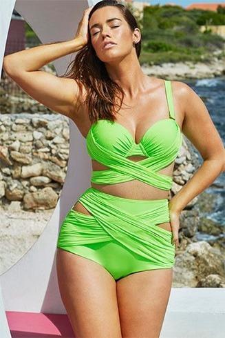 Wrap Underwire High Waist Bikini