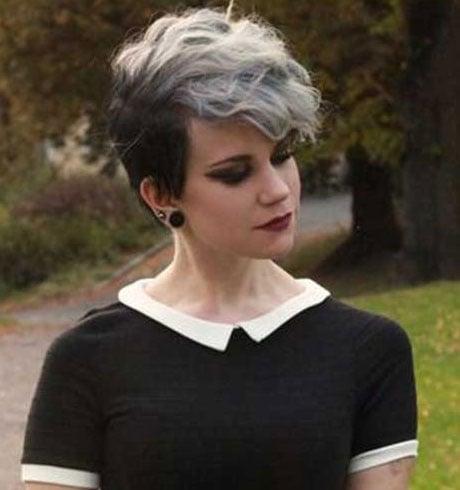 Black White Emo Hairstyle