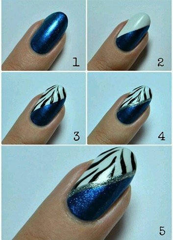 Blue Nail Designs Tutorial