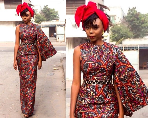 Cute African Printed Fashionable Dress
