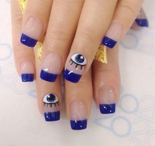 Evil Eye Nail Design