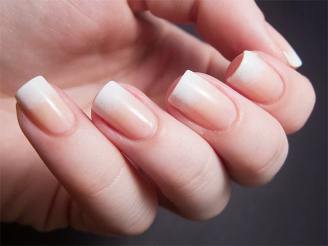 16 white tip nail designs different french manicure variations you can try. Black Bedroom Furniture Sets. Home Design Ideas