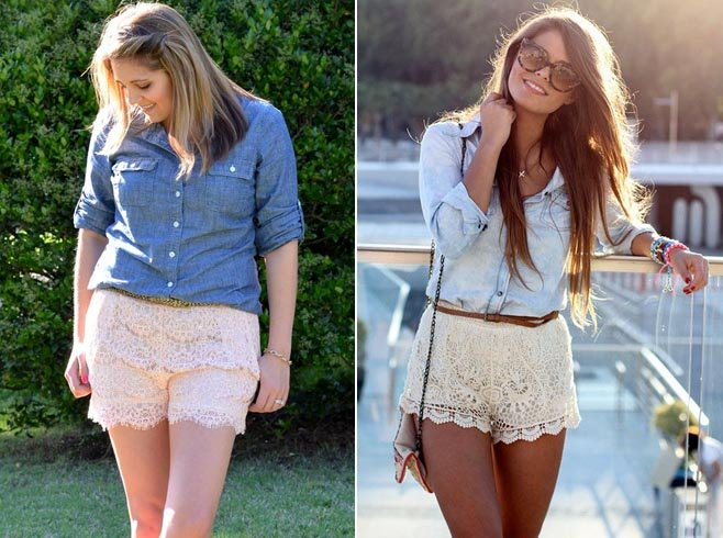 Lace Short Outfits