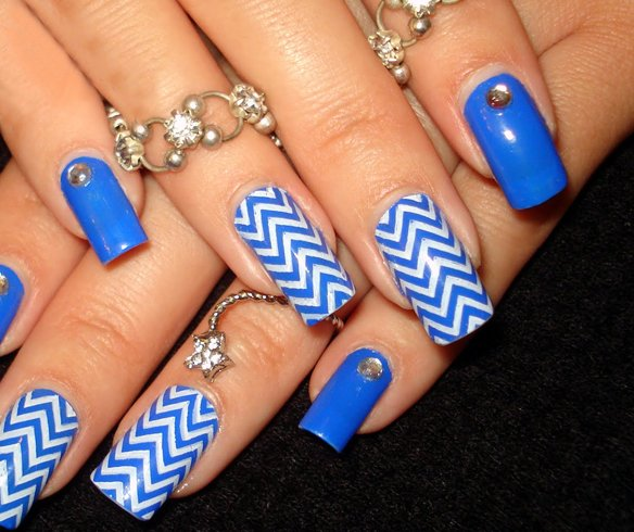 Light Blue Nail Art