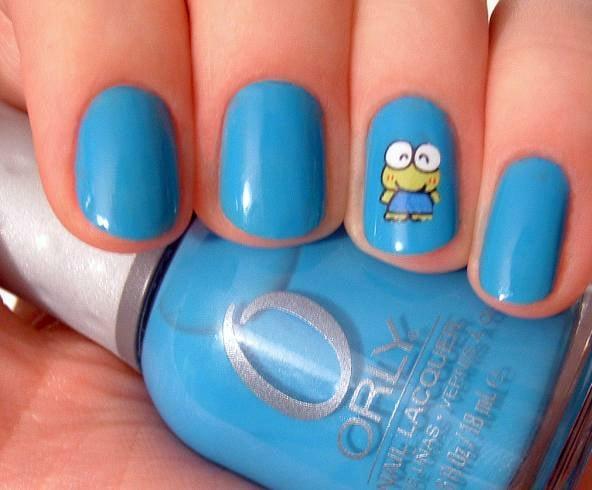 Light Blue Nail Designs For Kids