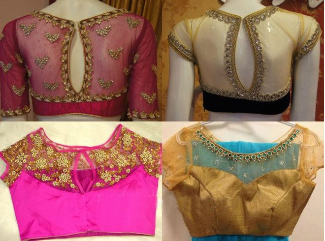 Maggam Work Blouse Neck Designs
