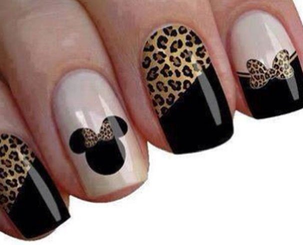 Minnie Mouse Nails With A Twist