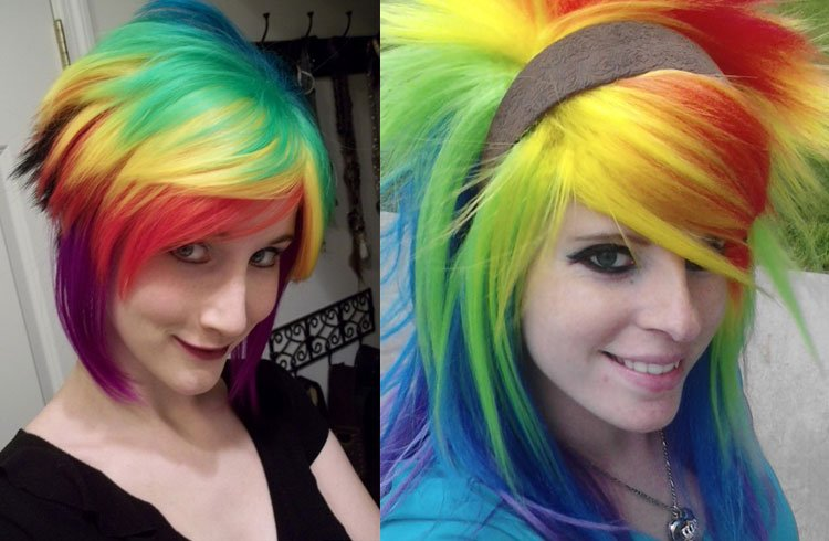 Rainbow Emo Hairstyle