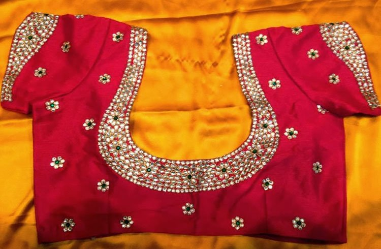 Simple Maggam Work Blouse Designs