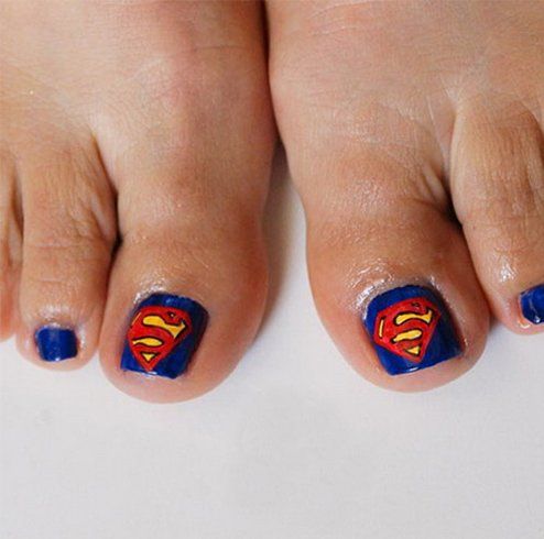 Superhero Nail Design