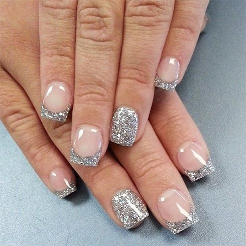 White Tip Nail Art