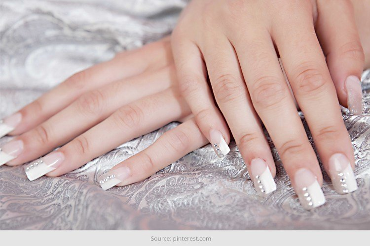 16 White Tip Nail Designs: Different French Manicure Variations You Can Try  . - 16 White Tip Nail Designs: Different French Manicure Variations