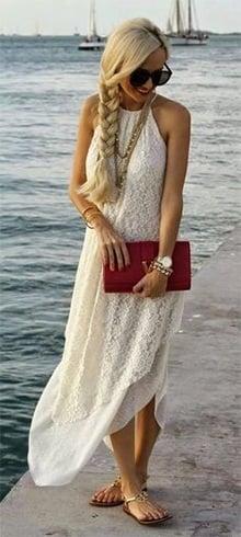 White Lace Maxi Dresses