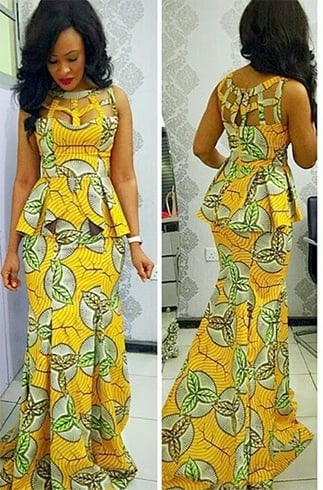 African Cocktail Peplum Dresses