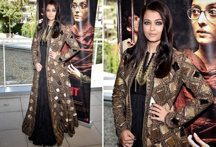 Aishwarya In Rohit Bal Dress At Cannes 2016