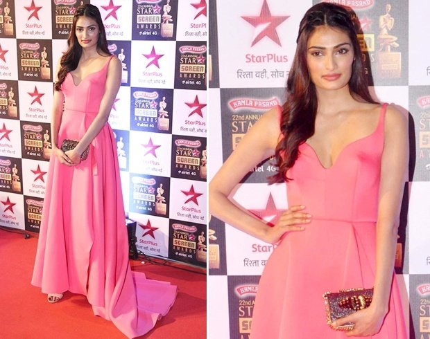 Athiya Shetty in Gauri and Nainika gown