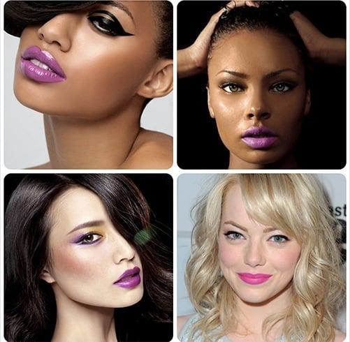 Celebrities With Purple Llipstick