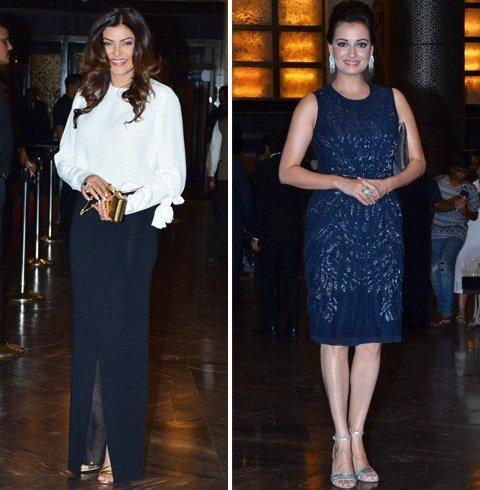 Celebs Stills at Preity Wedding Reception