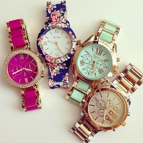Chunky colorful watches