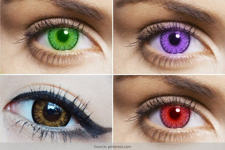 Colored Contact Lenses Try Out
