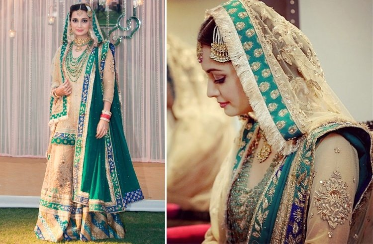 Dia Mirza Wedding Dress