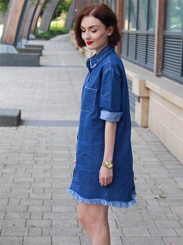 what to wear with a denim dress 5 enthralling combinations