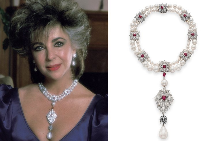 Elizabeth Taylor pearl necklace