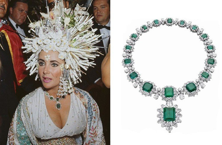 Elizabeth Taylor Emerald Necklace