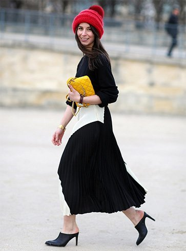 Flowy skirts and styling mules