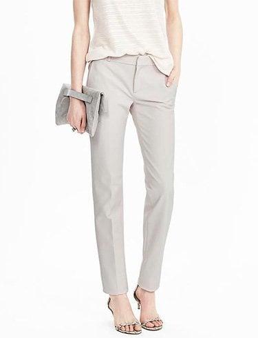 Slim gray straight pants