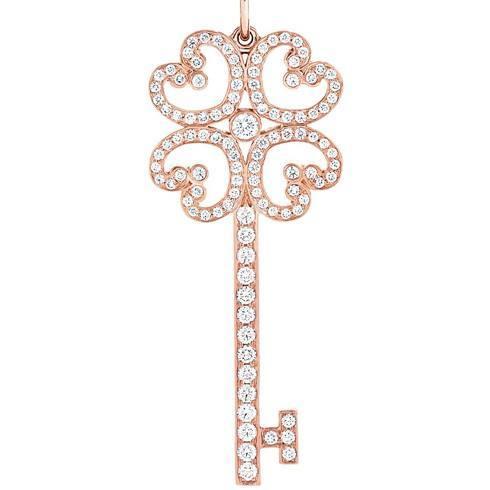 Gorgeous heart key pendants