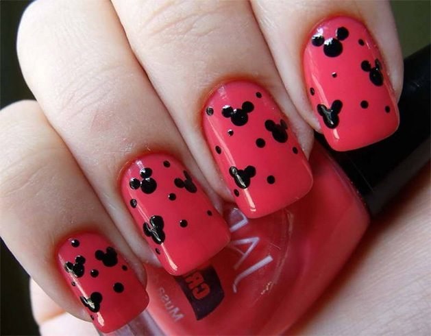 How To Paint Minnie Mouse Nails