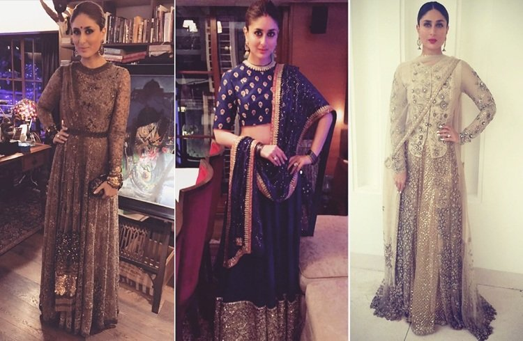 Kareena Kapoor In Sabyasachi outfits