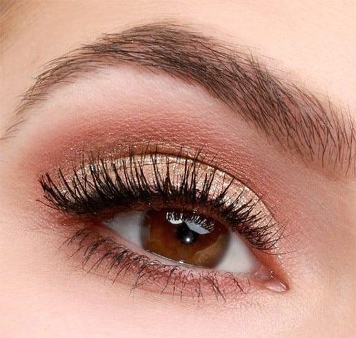 Kohl eyes and nude eyeshadow