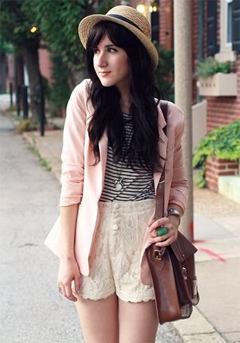 Lace Short Outfit Ideas