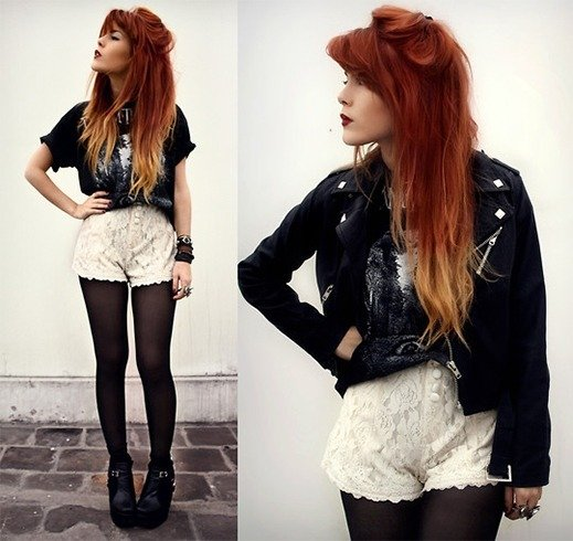 Lace Shorts Outfit Ideas