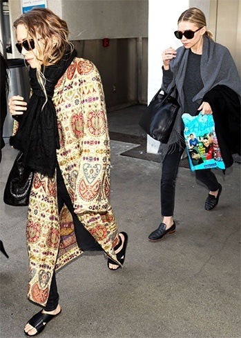 Mary Kate And Ashley Olsen Airport Styles