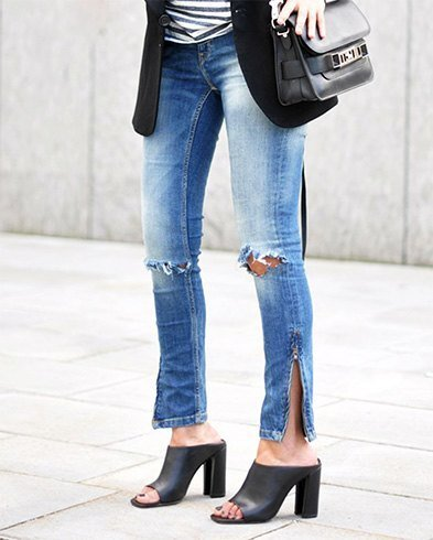 Mules With Denims