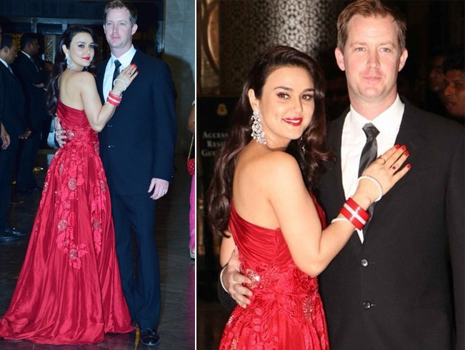 Preity Zinta and Goodenough Wedding Reception