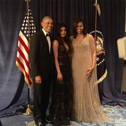 Priyanka Chopra With Obamas