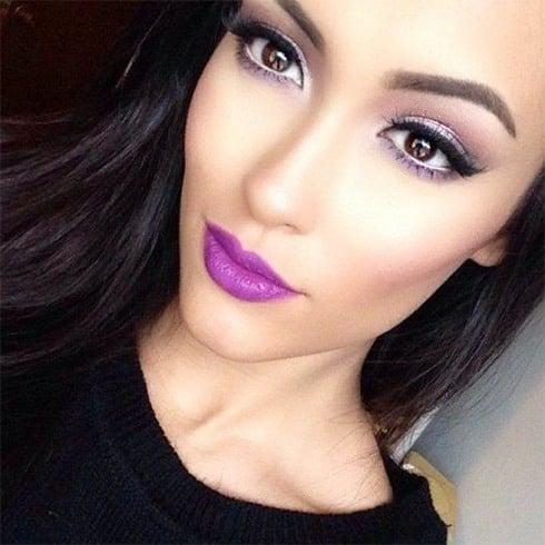 Purple Lipstick For Fair Skin