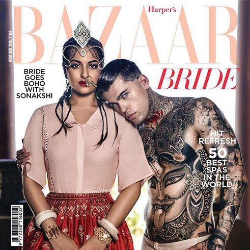 Sonakshi Sinha on Harper Bazaar Bride 2016 May